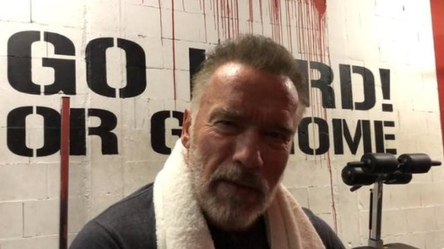 Schwarzenegger message helps inspire struggling fans
