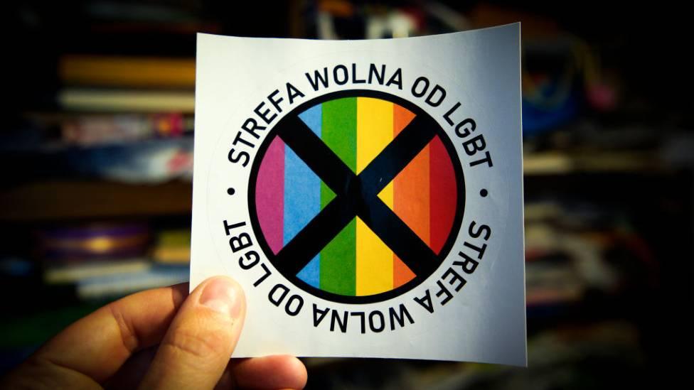 Pegatina anti-LGBT
