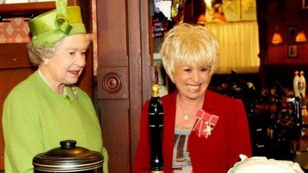 The Queen & Barbara Windsor