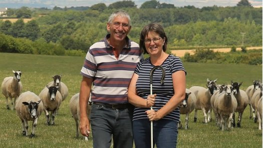 Bryan Griffiths with his wife Liz