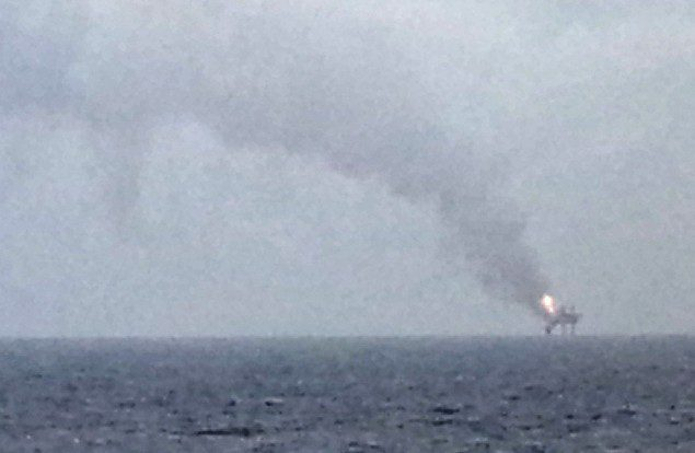 Photo taken from approx. 6 miles away, July 24, 2013. Photo (c) ElCapitan/gCaptain