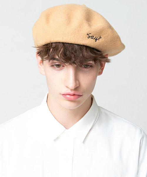 SAY!(セイ)の「mko7122-BERET ベレー(ハンチング/ベレー帽)」|ベージュ