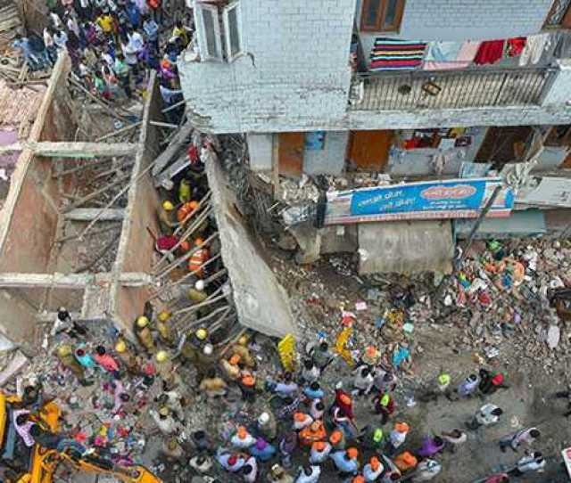 Seven Killed As Five Storey Building Collapses In Delhi