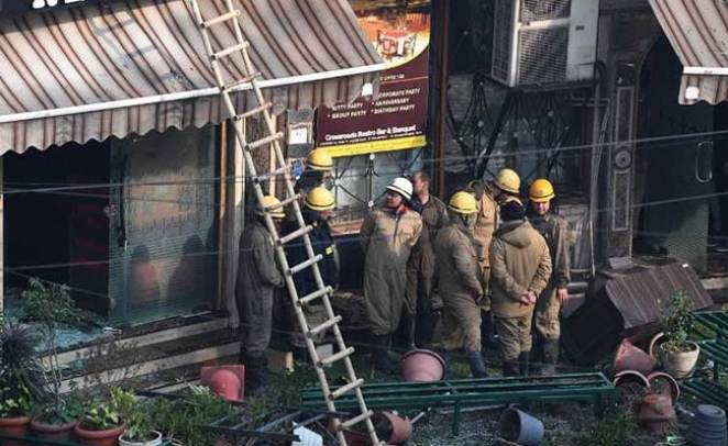 Image result for delhi hotel fire