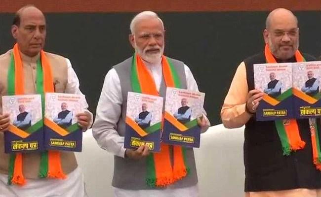 BJP Releases Poll Manifesto, Sankalp Patra: Highlights