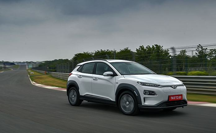 The all-electric Kona SUV is locally assembled at the Hyundai's facility in Chennai.