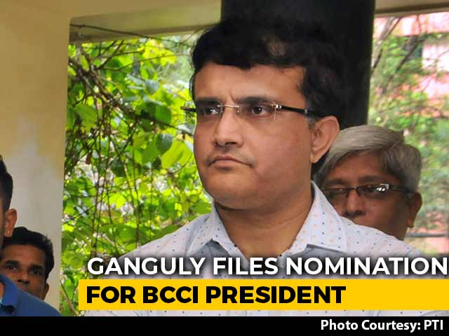 Saurva Ganguly Drops Nomination For BCCI President Post