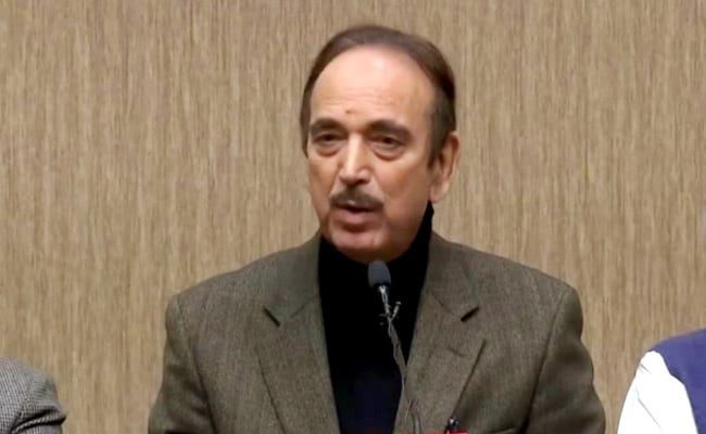 Leaders Want 5-Star Comfort: Ghulam Nabi Azad On Why Congress Loses Polls