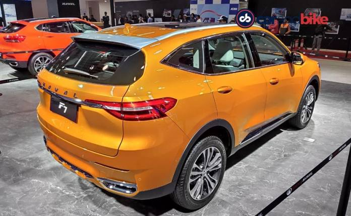 Image result for pics of haval f5 and F7 suv in auto expo 2020