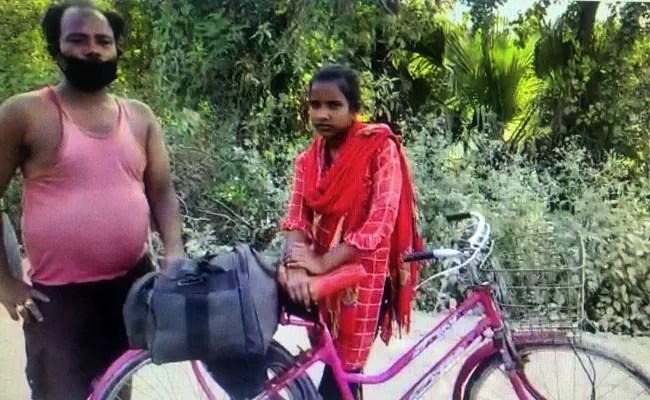 ज्योति कुमारी ने एक हफ्ते में अपने पिता के साथ 1,200 किलोमीटर  तक साइकिल चलाई