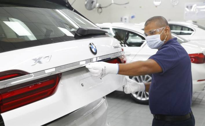 BMW's all German plants were affected by an ongoing shortage of semiconductors