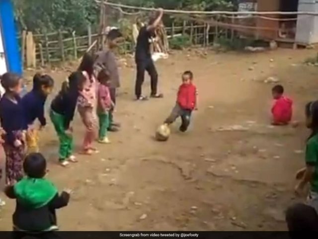 Watch: Kid Hilariously Misses Free-Kick, Leaves Everyone In Splits