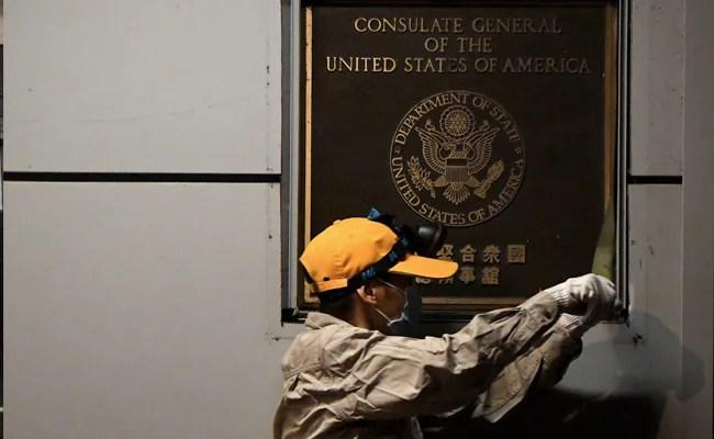अमेरिकी ध्वज चेंगदू में अमेरिकी वाणिज्य दूतावास में उतारा गया: रिपोर्ट