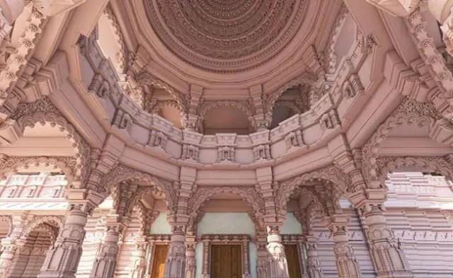अयोध्या मंदिर में 360 स्तंभ हैं, गुलाबी पत्थर राजस्थान से लाए गए हैं