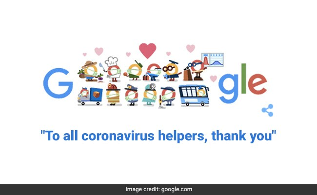 Google Doodle Thank You Coronavirus Helpers Doodle Launches Series To Honour Frontline Workers