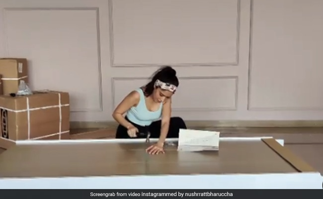 Nushrat Bharucha Tried 'Building' Her Own Furniture. So, How Did She Do?