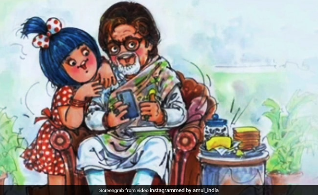 On Amitabh Bachchan's 78th Birthday, The Most Utterly Butterly Wish Arrived From Amul