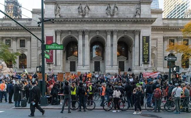 न्यूयॉर्क में हजारों विरोध, अमेरिकी चुनाव परिणाम के डेट्रायट आगे