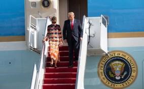 Donald Trump, Wife Melania Arrive At Mar-a-Lago Home In Florida