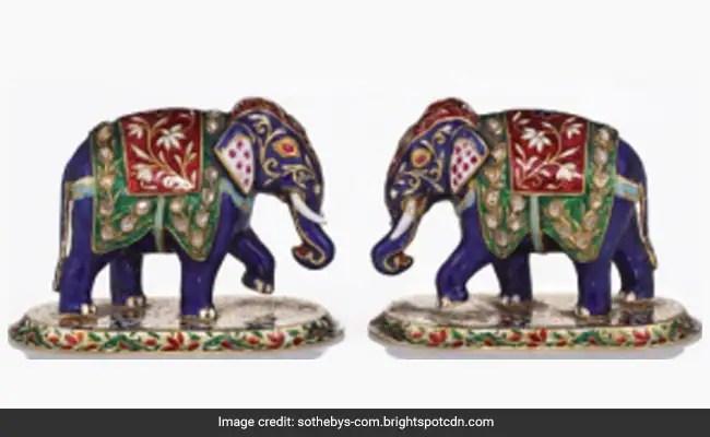 Lord Mountbatten's Indian Bracelet, Jewelled Elephants Auctioned In UK