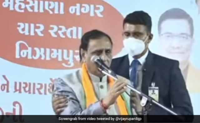 Gujarat Chief Minister Vijay Rupani Tests Covid+ve Hours After He Fainted On Stage