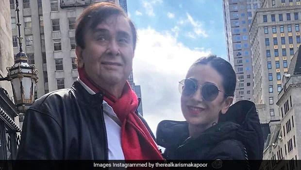Kareena, Karisma Celebrate Father Randhir Kapoor's Birthday With Special Cake