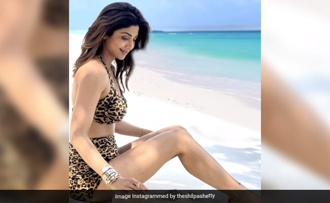 Shilpa Shetty shares again with Maldives Video, the seaside actress was seen in this style