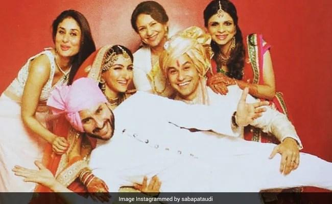 करीना कपूर-सैफ अली खान और शर्मिला टैगोर सोहा अली खान-कुणाल केमू की शादी के एल्बम से एक थ्रोबैक पिक में