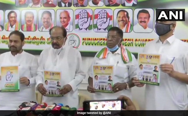 Free Vaccination, Scrapping Of NEET In Congress Puducherry Manifesto