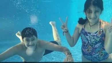 It's Swim-O'Clock For Mahesh Babu, Namrata Shirodkar's Kids Sitara And Gautam