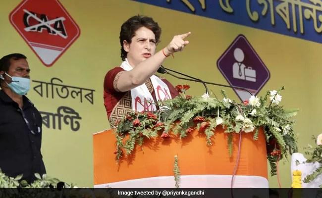 सत्ता में आए तो असम में नहीं लागू होगा CAA, गृहिणियों को हर महीने देंगे 2 हजार रुपये : प्रियंका गांधी
