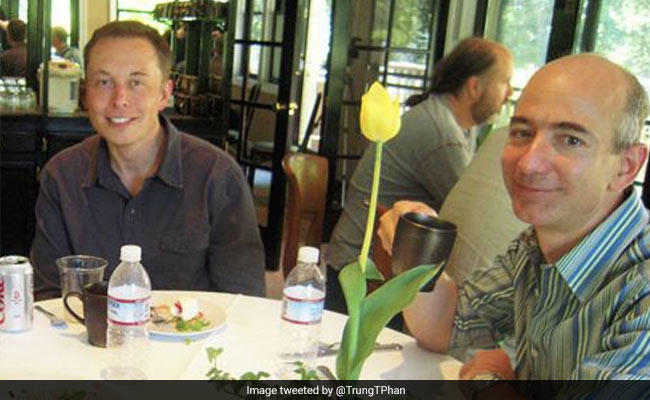 Elon Musk, Jeff Bezos Dined Together 17 Years Ago. Throwback Pics Inside