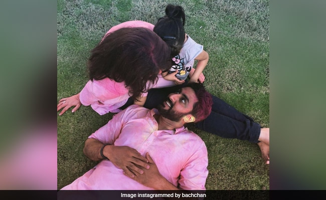 Holi 2021: Abhishek Bachchan's 'Throwback To Safer Times' With Aishwarya And Aaradhya