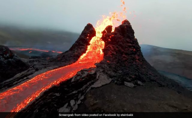 Drone Flies Dangerously Close To Erupting Volcano, Captures Stunning Footage