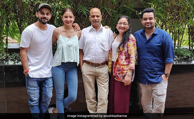 ICYMI: Anushka Sharma, Virat Kohli's Fam-Jam Pic In Her Birthday Post For Dad