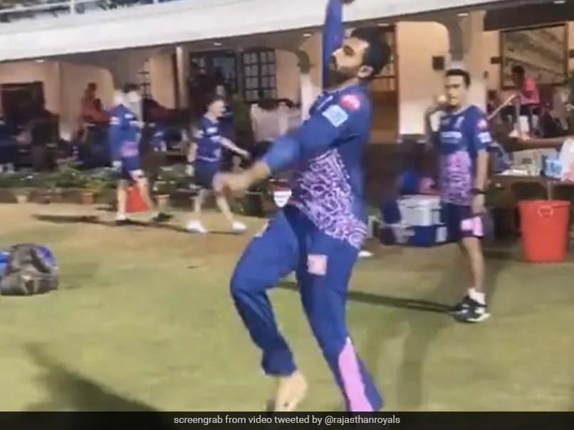 IPL 2021: Rajasthan Royals Shreyas Gopal Imitates Jasprit Bumrahs Bowling Action Better Than The Bowler Himself. Watch