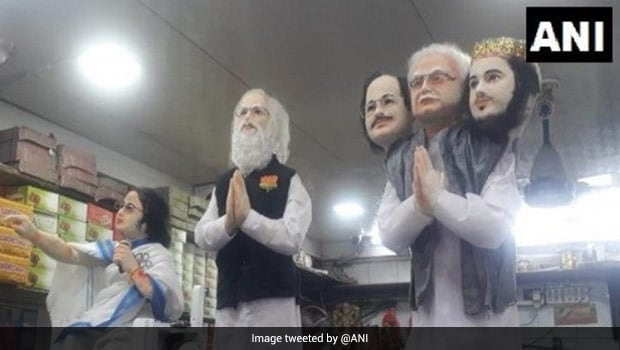 Howrah Sweet Shop Makes Statuettes Of PM Modi, West Bengal CM Mamata Banerjee Out Of Sweets - See Pics