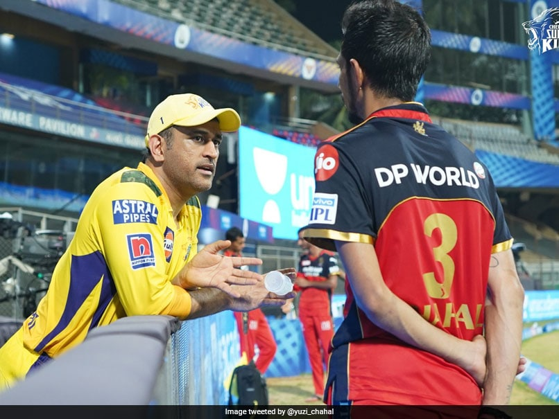 CSK vs RCB: Yuzvendra Chahal Catches Up With MS Dhoni, Shares Pic | Cricket News