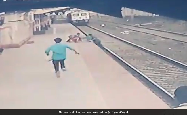 Watch: Child Saved By A Hair's Breadth, Railway Employee's Daring Act