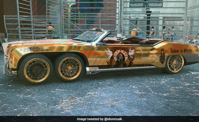 Elon Musk Is Now The Owner Of A 6-Wheel Golden Car - But There's A Catch