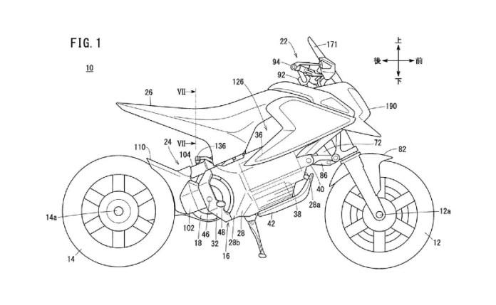 नवीनतम पेटेंट चित्र में होंडा की इलेक्ट्रिक मिनी बाइक को दिखाया गया है
