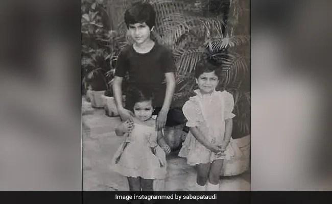 Saif Ali Khan With Sisters Soha And Saba In A Throwback Gem