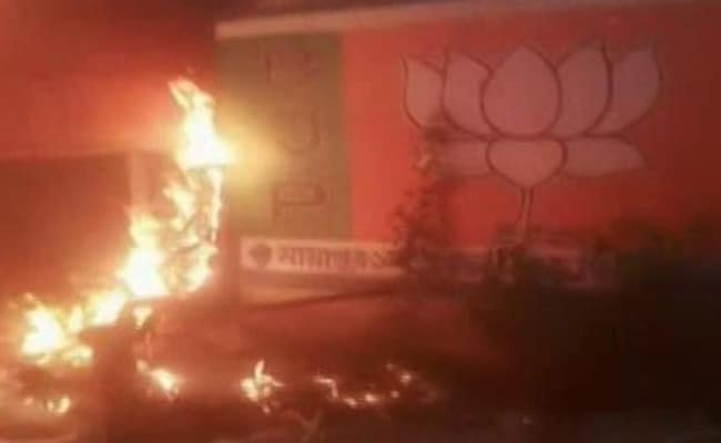 BJP Party Office Set On Fire In Bengal, Party Blames Trinamool