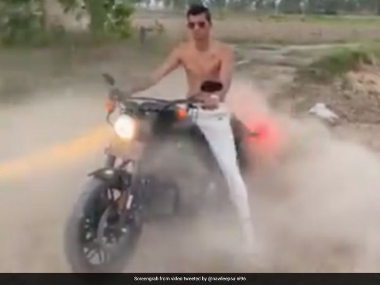 Navdeep Saini Flaunts Harley-Davidson Bike In New Video. Watch