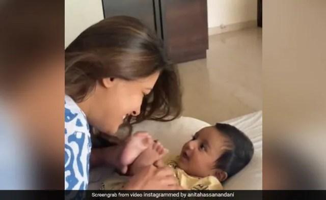 How Anita Hassanandani Talks To Her Newborn Son Aaravv