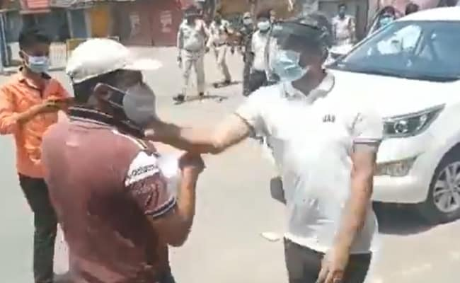 Video: Man Going To Buy Medicine Thrashed In Chhattisgarh By Cops
