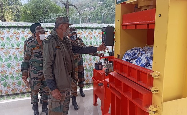 Carbon Compacting Plant Installed In J&K As Part Of Green Initiatives For Indian Army
