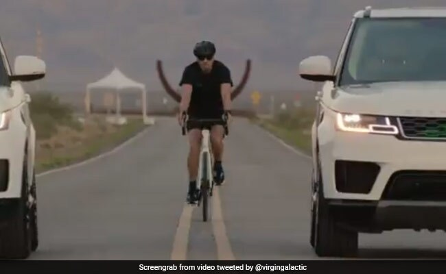 Richard Branson's Choice Of Transport To Spaceship Launch Pad - A Bicycle