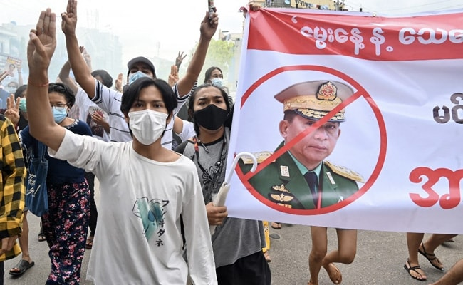 Mock Funerals At Myanmar Protest Mark Coup Leader's Birthday