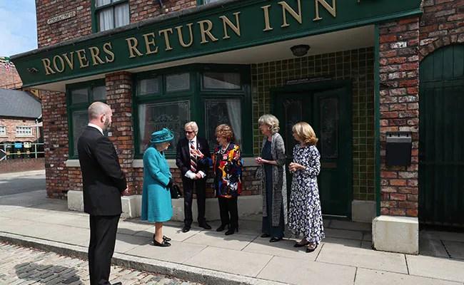 Queen Elizabeth Treads Cobbles On Set Of Longest-Running Soap